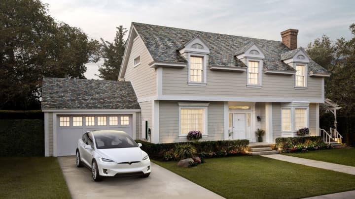 A Tesla solar roof