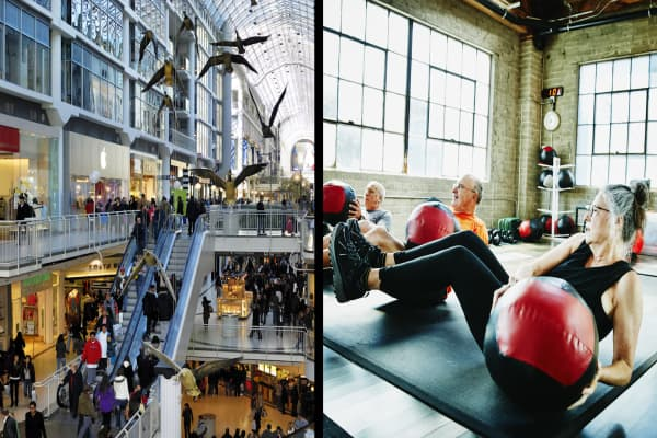 Malls hope to get back in shape by adding gyms