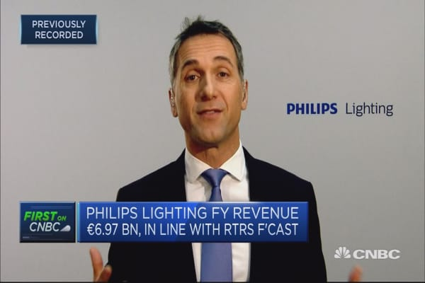 Philips Lighting CEO: Looking at potential M&A