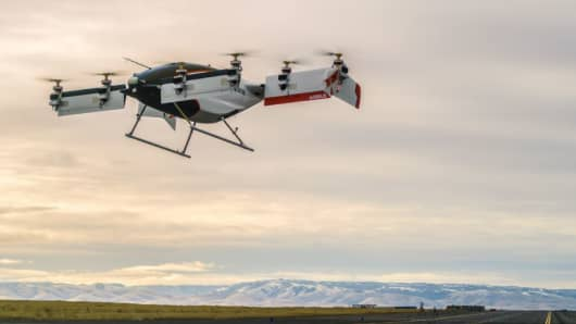 Vahana, the all-electric, self-piloted aircraft from A³ by Airbus, has completed its first full-scale flight test.
