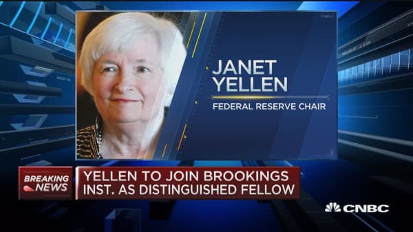 Janet Yellen to join Brookings Institution