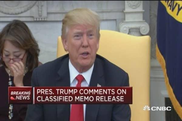 Trump: Memo was declassified, we'll see what happens