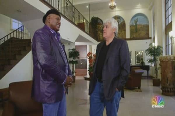 Jay Leno Meets Up With Comedian George Wallace To Discuss
