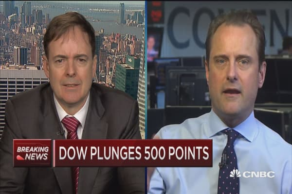 Trading Nation: Dow plunges xxx points (double check when clip comes in)