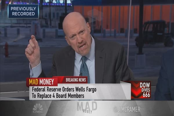 Cramer weighs in on Fed's action against Wells Fargo