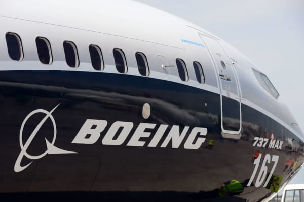 The Boeing B737 Max 9 on June 20, 2017.