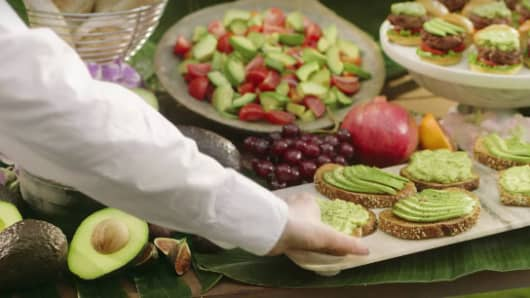 A scene for Avocados from Mexico Super Bowl ad.