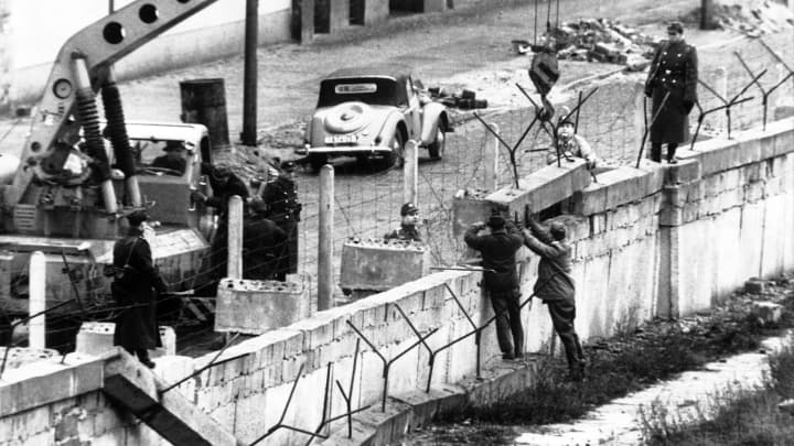 The construction site of the Berlin Wall, on June 6, 1961. The Wall was to minimize the flow of Eastern inhabitants moving to the West.