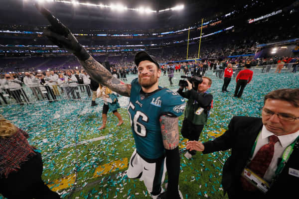 Chris Long of the NFL's Philadelphia Eagles