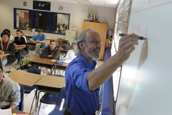 The Complex Variables advanced math class taught by Robert Sach at Thomas Jefferson High School for Science and Technology.