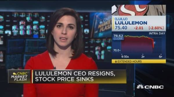 Lululemon CEO resigns, cites standards of conduct