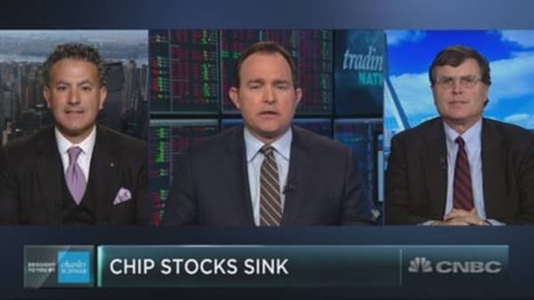 Semi stocks get slammed