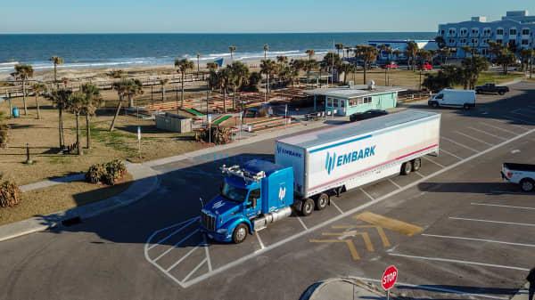 Embark autonomous trucks