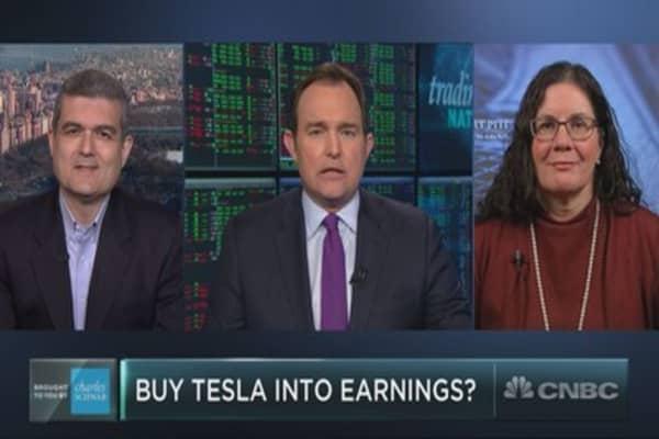 Is Tesla a buy into earnings?