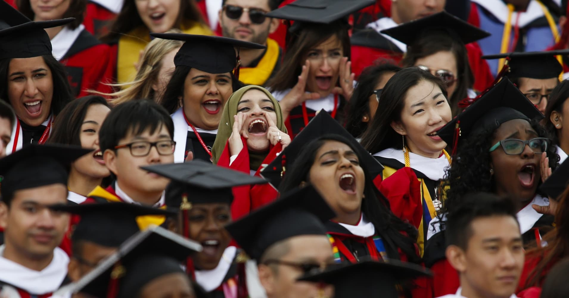 Commencement ceremony at Rutgers University