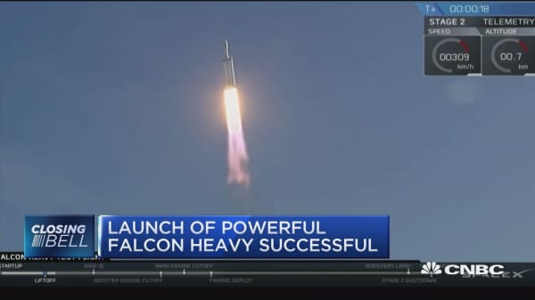 SpaceX's Falcon Heavy becomes world's most powerful rocket