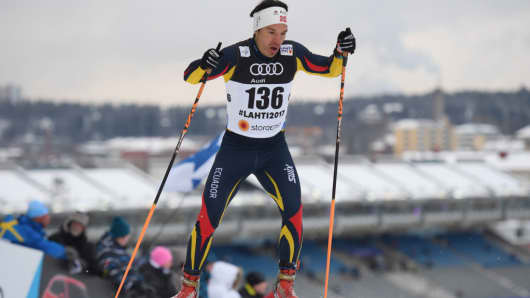 Klaus Jungbluth Rodriguez of Ecuador competes in the FIS Nordic World Ski Championships on February 23, 2017 in Finland.