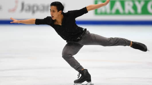 Julian Zhi Jie Yee of Malaysia competes in Four Continents Figure Skating Championships on January 27, 2018 in Taiwan.