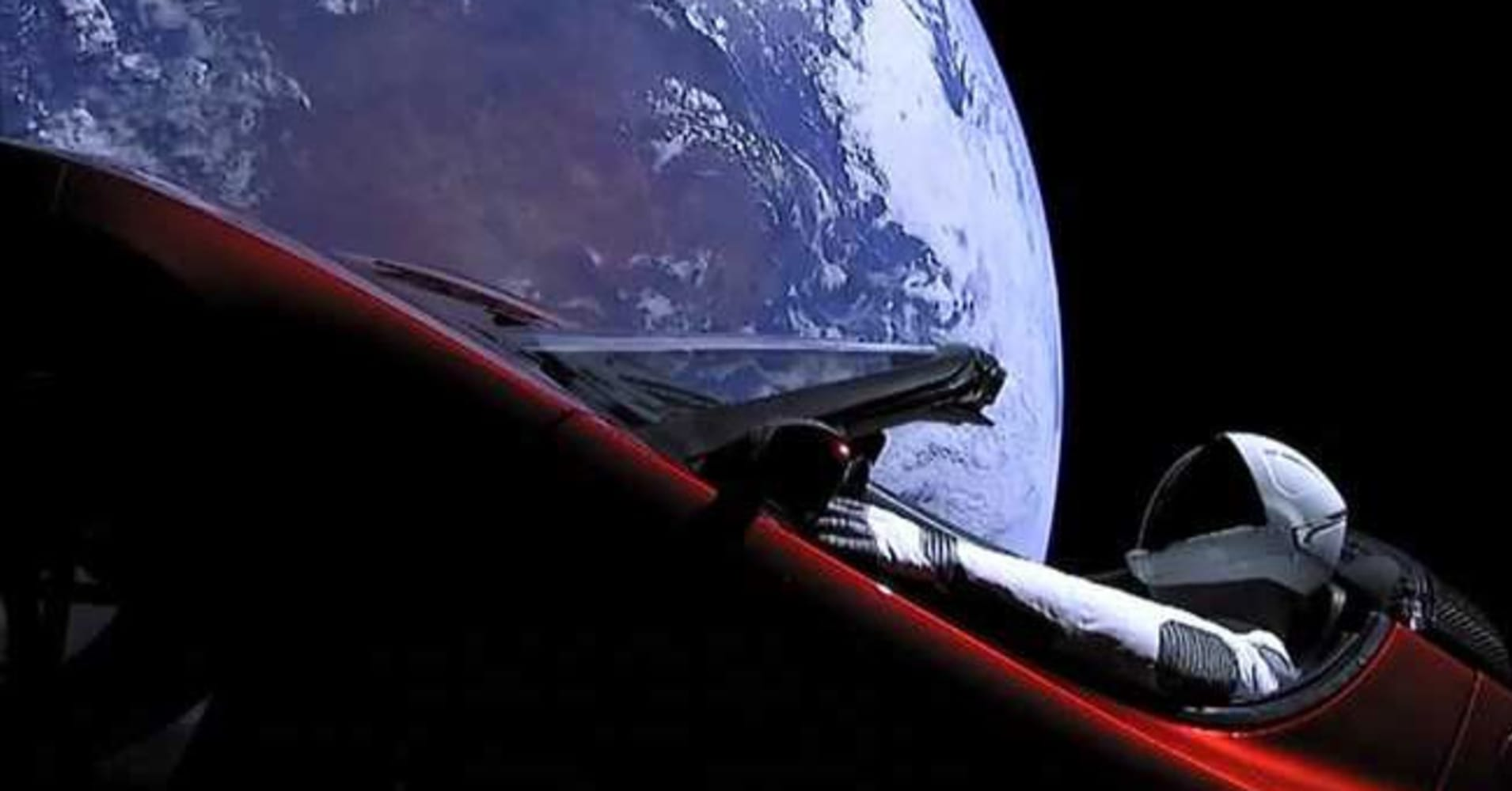 This is what a Tesla Roadster looks like floating through ...