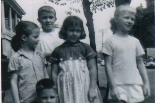 Barbara Corcoran (far right) and the neighborhood kids