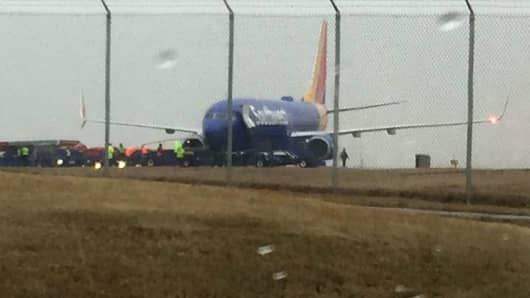 A Southwest Airlines plane skidded off the runway at BWI Airport on Feb. 7th, 2018.
