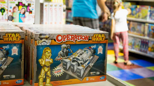 A Star Wars branded Hasbro Inc. Operation game is displayed ahead of the 'Force Friday' event at a Toys R Us Inc. Store in New York.