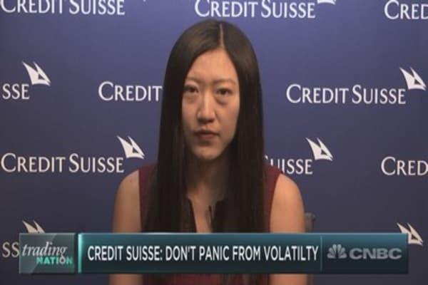 Credit Suisse on this week's wild market swings