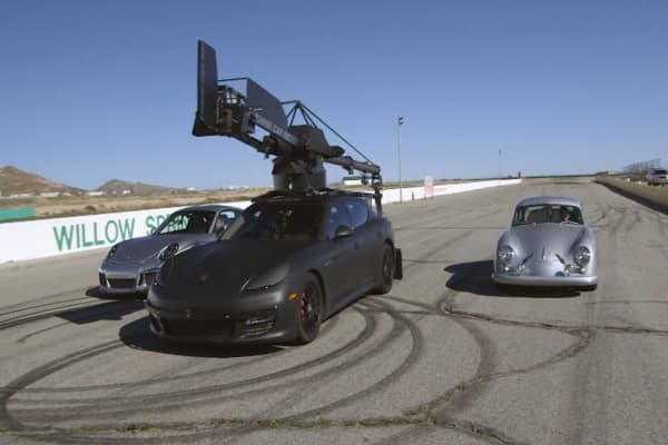 The $130,000 custom Posche used to film high-speed car chases