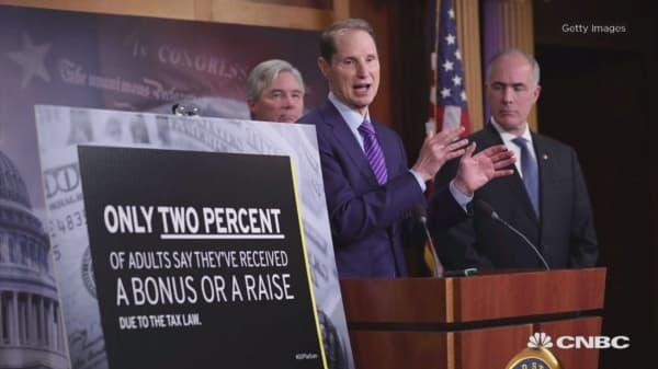 Democrats slam Republican tax cut for $97 billion wave in corporate share buybacks