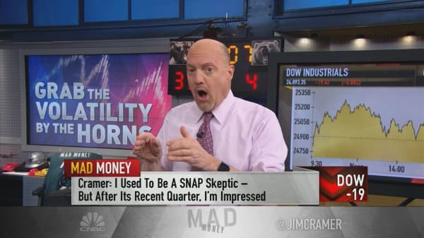Cramer bullish on Snap, compares stock to Facebook's early days