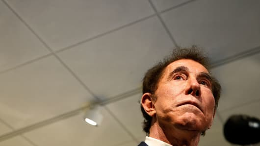 Steve Wynn during a press conference in Medford, Mass., on March 15, 2016.