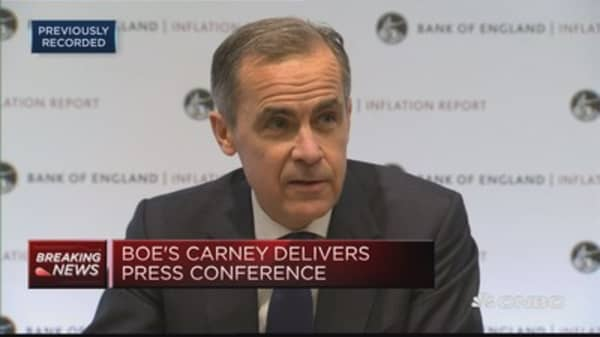 Investment is being contrained by Brexit-related uncertainities: BOE's Carney