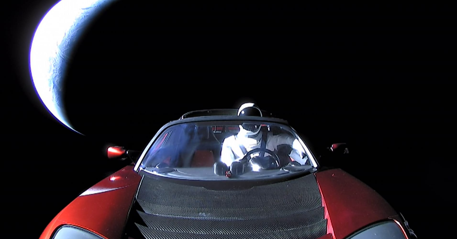 The last picture of Starman from SpaceX