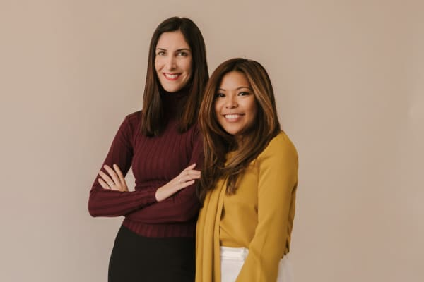 Away co-founders Steph Korey (L) and Jen Rubio