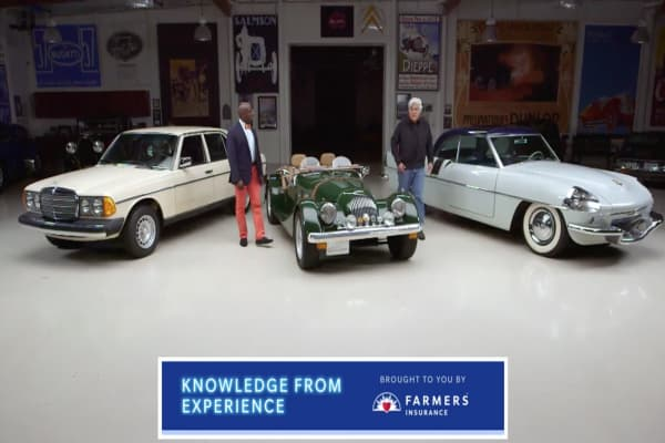 Jay Leno and Donald Osborne access cars that run on anything but gas