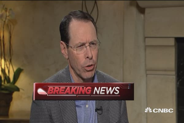 AT&T CEO: Market correction did not have a whole lot of impact on our plans