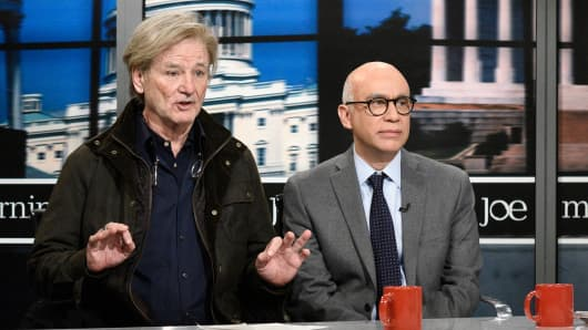 Bill Murray as Steve Bannon, Fred Armisen as Michael Wolff during 'Morning Joe Cold Open' in Studio 8H on Saturday, January 13, 2018.