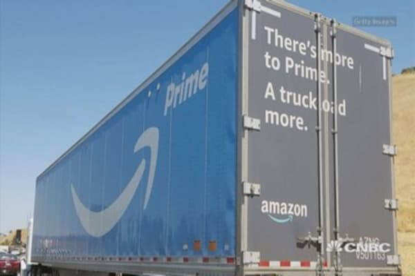 Amazon may be taking an even stronger hold on the delivery business