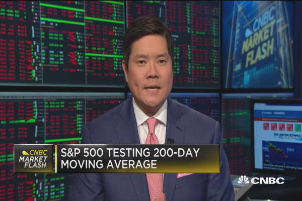S&P testing 200-day moving average