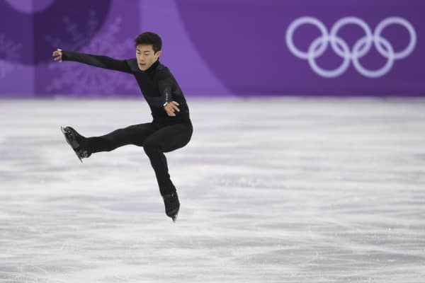 Nathan Chen of the United States competes in the Figure Skating Team Event - Men's Single Skating Short Program during the PyeongChang 2018 Winter Olympic Games.