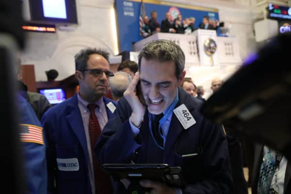 Dow soars more than 300 points before the close