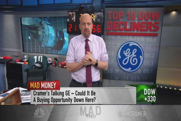 Cramer reviews the Dow's 10 biggest losers during the sell-off