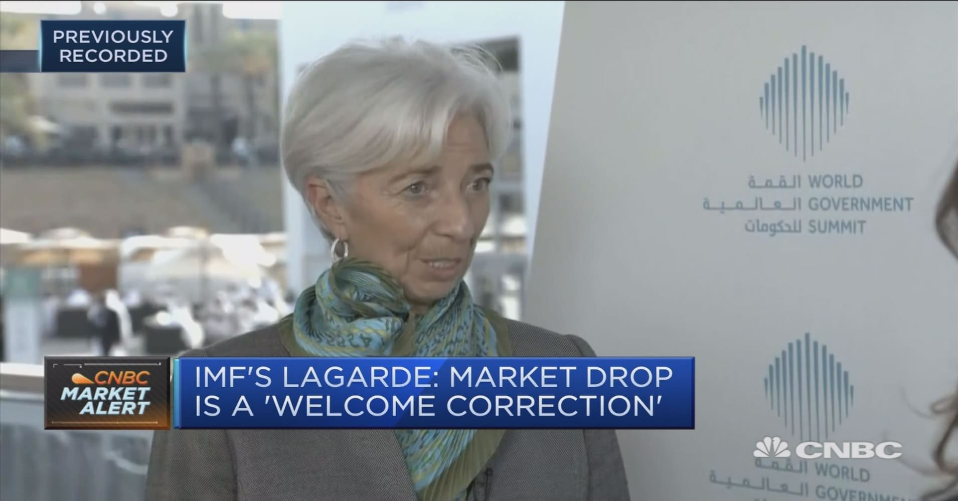 Market correction was welcome, says IMF's Lagarde