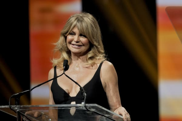 Actress/producer Goldie Hawn, recipient of the Cinema Icon Award, attends the CinemaCon Big Screen Achievement Awards