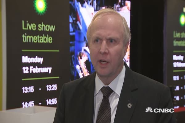 BP CEO: See oil between $50 and $65 a barrel from now to 2020