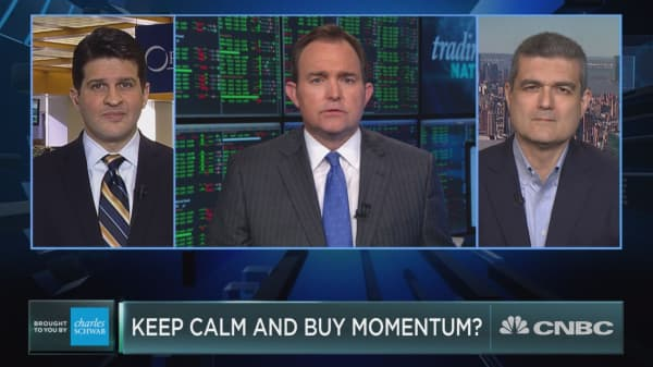 Keep calm and buy momentum?