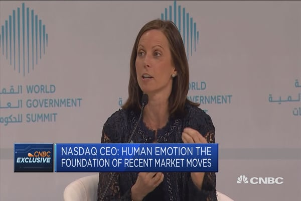 Market sell-off triggered by 'human emotion,' Nasdaq CEO says