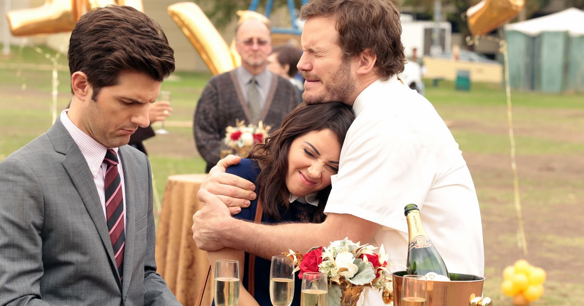 "Adam Scott, Aubrey Plaza and Chris Pratt in NBC's ""Parks and Recreation"""