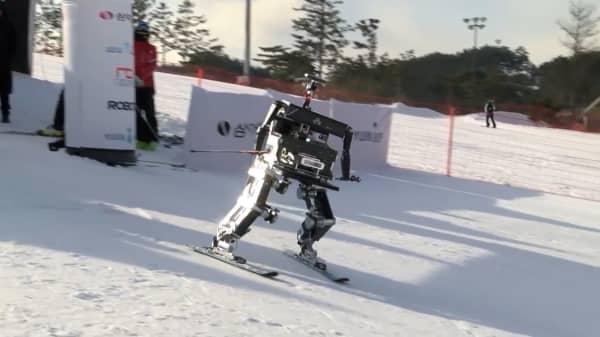 9da0ed811da8 Robot skiers compete in South Korea near Olympics