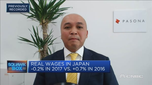 A wage hike at 3% in Japan is unlikely this year